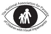Logo: NAPVI–– National Association of Parents of Children with Visual Impairments
